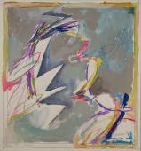 "Alberto Solsona, ""Primer boceto de Carmen"", 1986 acuarela sobre papel 32,5 x 30 cm."