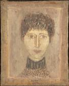"Zoran Music, ""Retrat d'Ida"", 1950 oli sobre tela 41,5 x 33,5 cm."