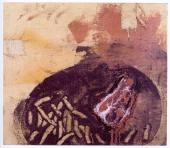 "Miquel Barceló, ""Steak frites"", 1984 oil and mixed media on canvas 52,1 x 58,4 cm."