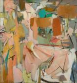 """Esteban Vicente, """"Growth"""", c.1951 oli sobre tela 121,9 x 114,3 cm."""