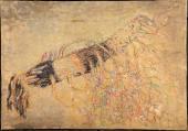 "Zoran Music, ""Motiu vegetal"", 1972 acrílic sobre tela 81 x 116 cm."