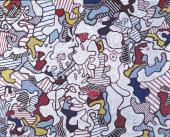 """Jean Dubuffet, """"Opéra Bobèche"""", 1963 oli sobre tela 81,4 x 100,2 cm. (Fondation Jean et Suzanne Planque, Lausanne. © Luc Chessex)"""