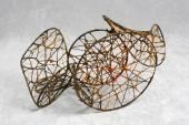 "Moisès Villèlia, ""Untitled"", 1963 steel wire,thread 32 x 42 x 22 cm"