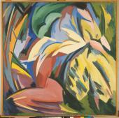 "Alberto Magnelli, ""Explosion lyrique n º 12"", 1918 oli sobre tela 130 x 130 cm."