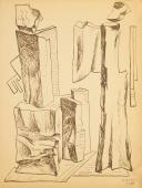 "Alberto Magnelli, ""Pierres, 10 août 1931"", 1931 tinta sobre paper 33,9 x 25,6 cm."