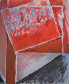 """Alberto Solsona, """"Planos rojos"""", 1979 acrylic on paper 85 x 70 cm."""