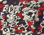"Jean Dubuffet, ""Logologie"", 1967 rotulador sobre papel 24 x 29,5 cm."