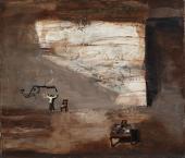 """Ignacio Iturria, """"Siempre los elefantes"""", 2008 óleo sobre tela 60 x 70 cm."""