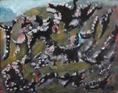 "Henri Michaux, ""Sans titre"", 1984 oli sobre tela 19 x 24 cm"