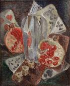 "André Masson, ""Nature morte cubiste aux grenades"", 1923 oil on canvas 26,7 x 22 cm."