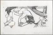 "Albert Gleizes, ""Métaphore amoureuse"", 1910 lápiz y gouache blanco sobre papel 10,4 x 16,1 cm."