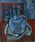 "Francisco Bores, ""Nature morte au pichet blue"", 1925 oil on canvas 55 x 46 cm."
