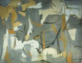 """Esteban Vicente, """"Number 5"""", 1950 óleo sobre tela 89 x 115 cm (Col. Museo de Arte Contemporáneo Esteban Vicente, Segovia)"""