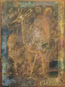 Will Faber 'Rara avis' 1950 ceres i grattage sobre paper 22 x 16,5 cm