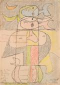 """Le Corbusier """"Taureau"""", 1952 llapis de colors i tinta sobre paper 33 x 21 cm © FLC/ADAGP Paris, 2017"""
