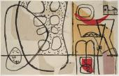 "Le Corbusier, ""Simla"", 1956 collage i tinta sobre paper 21,5 x 34,5 cm, © FLC/ADAGP Paris, 2017"