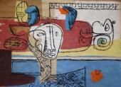"""Le Corbusier, """"Taureau"""", 1960 collage, gouache y tinta sobre papel 52 x 73 cm © FLC/ADAGP Paris, 2017"""