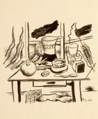 """Fernand Léger, """"Nature morte au broc"""", 1949, tinta sobre paper 31,5 x 26,5 cm."""