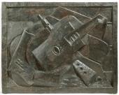 "Jacques Lipchitz, ""Still Life"", 1918 bronze 3/7  55,9 x 71 x 3,8 cm."