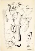 """Alberto Magnelli, """"Sans titre"""", 1936 tinta i llapis sobre paper 32 x 21 cm."""