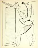 "Alberto Magnelli, ""Sans titre"", 1936 ink on paper 26,8 x 21 cm."