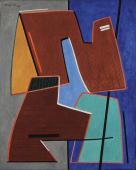 """Alberto Magnelli, """"Éléments"""", 1964 oli sobre tela 92 x 73 cm."""