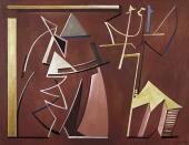 """Alberto Magnelli, """"Conciliabules distraits"""", 1935 oli sobre tela 100 x 130 cm."""