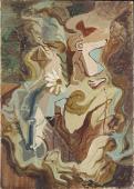 """André Masson, """"La Reine-Marguerite"""", 1926 oli sobre tela 46,2 x 33 cm"""