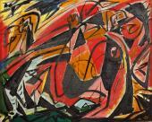 """André Masson, """"Massacre"""", 1931 óleo sobre tela 32,5 x 41,5 cm."""