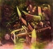 "Roberto Matta, ""Geyser de la mémoire"", 1972-74 oil on canvas 204 x 218 cm"