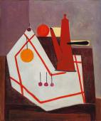 "Óscar Domínguez, ""Nature morte à la cafetière"", 1950 oil on canvas 55,5 x 46,5 cm"