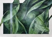 """Vicenç Viaplana, """"Solo Recording Sessions #1.23"""", 2017 acrílico sobre papel serigrafiado 110 x 152 cm"""