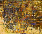 """M. H. Vieira da Silva, """"Automne"""", 1961 oli sobre tela 81,3 x 100 cm"""
