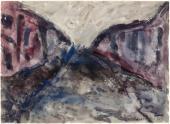 """Luis Claramunt, """"Sense títol"""", 1985 aquarel·la sobre cartolina 24 x 34 cm"""