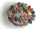 """Xavier Escribà, """"Els ulls de Paul Klee-42 anys"""", 2011 acrílico sobre tela 25 x 31 x 16 cm."""