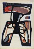 "Jaume Sans, ""Untitled"", 1954-1957 gouache on paper 66 x 48 cm"