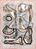 "Jaume Sans, ""Untitled"", 1954-1957 gouache on paper 60,3 x 44 cm"