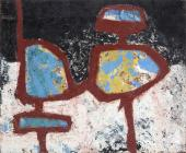 "Jaume Sans, ""Untitled"", 1954-1957 oil on wood 59,5 x 72,5 cm"