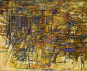 "Maria Helena Vieira da Silva , ""Automne"", 1961 oil on canvas 81,3 x 100 cm"