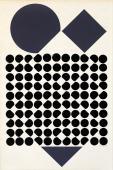 """Victor Vasarely, """"Cassioppe II"""", guaix sobre cartró 52,5 x 34 cm"""
