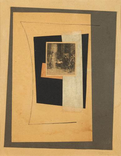 "Léon Tutundjian, ""Sans titre"", 1925-1926 ink and collage on paper 31 x 24 cm"