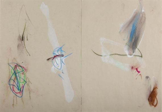 Antoni Llena 'Diàleg II' tècnica mixta sobre paper 25,5 x 36,5 cm
