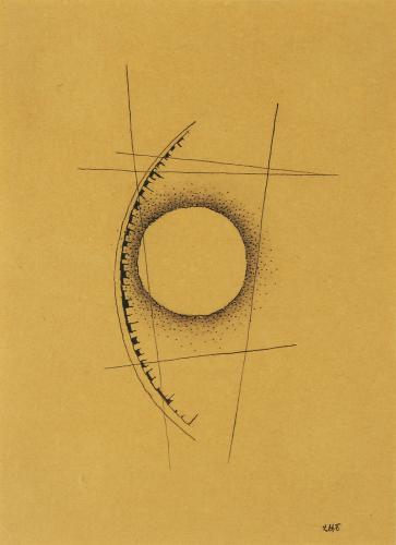 "Léon Tutundjian, ""Sans titre"", 1926 ink and pencil on paper 16 x 11,8 cm"
