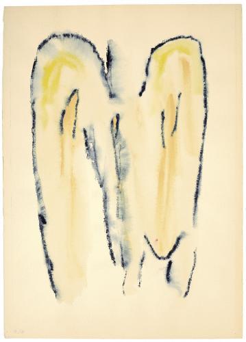 """Henri Michaux, """"Sans titre"""", 1970 aquarel·la i acrílic sobre paper 55,5 x 39 cm"""