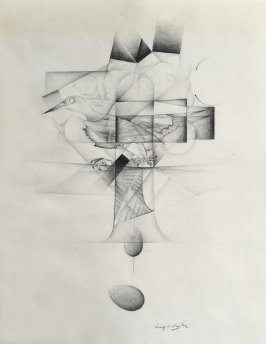 "Vicenç Viaplana, ""Untitled"", 1974 pencil on paper 56,5 x 44 cm"