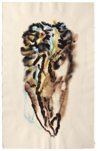 """Henri Michaux, """"Sans titre"""", 1972-73 aquarel·la sobre paper 49,9 x 31,5 cm"""
