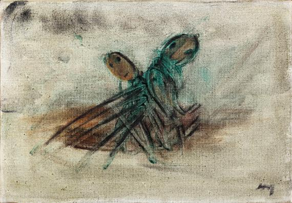 "Henri Michaux, ""Sans titre"", 1939 oli sobre tela 18,5 x 26,5 cm"