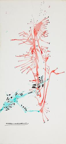 "Magda Bolumar, ""Untitled"", 1965 ink on paper 26,5 x 12 cm"
