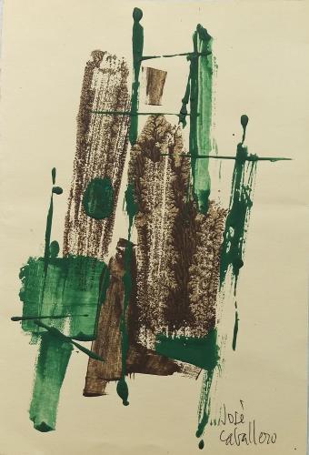 José Caballero, 'Untitled' gouache on cardboard 27,5 x 18,7 cm