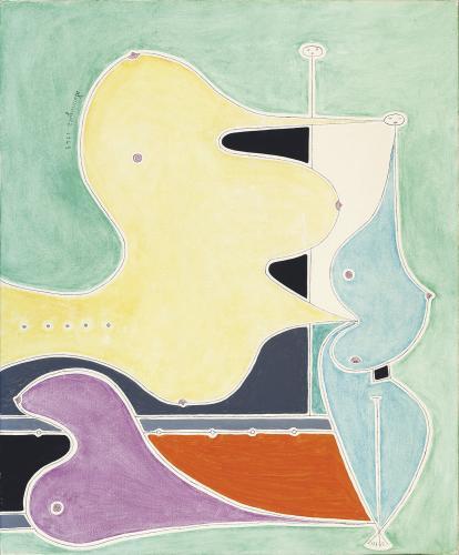 """Óscar Domínguez, """"Femmes"""", 1949 oli sobre tela 73 x 60 cm"""